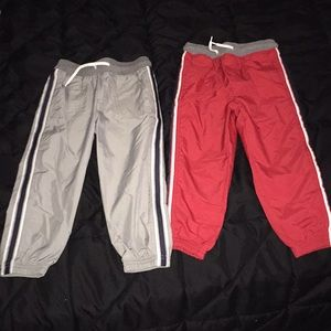 OshKosh 'windbreaker' pants. 4t.